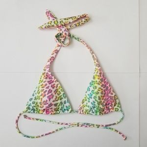 Victorias Secret Leopard Triangle Bikini Top